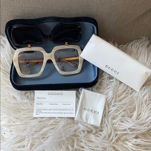 Gucci Oversized Flip Up Sunglasses